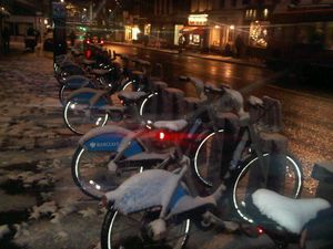 Borisbikes in the snow