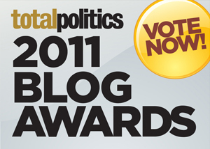 Click here to vote in the Total Politics Blog Awards 2011