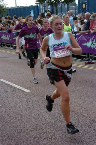 Ellie Carey running a half-marathon in London in Sept 2011