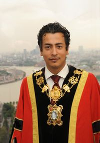 Mizan Chaudhury in his robes