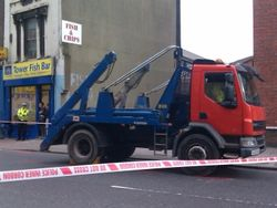 Lorry involved in death of David Poblet