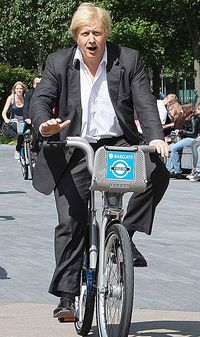 Boris on Barclays Cycle hire