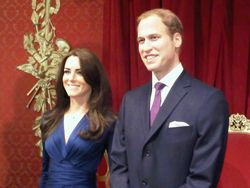 Wills + Kate at Madame Tussauds
