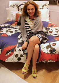 Diane Von Furstenburg's new bedlinen range at Selfridges