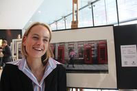 Lyndsey Chadwick with her prize winning photograph