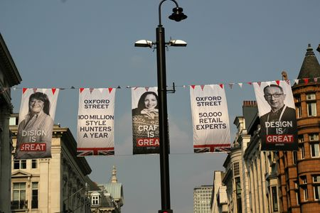 Flags on oxford street